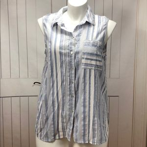 FADED GLORY TANK BUTTON UP SHIRT SIZE 16/18